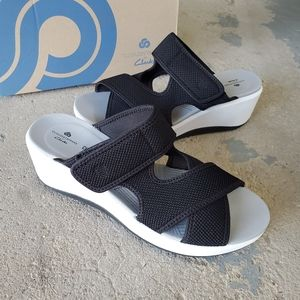 Cloudsteppers by Clarks Cali Reef Wedge Sandals